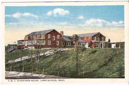 CAMP DEVENS, MA PRE-1920 POSTCARD - YWCA Hostess House