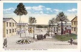 CAMP DEVENS, MA PRE-1920 POSTCARD - Weigel Boulevard - $13.75