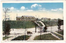 CAMP DEVENS, MA PRE-1920 POSTCARD - YWCA & YMCA Buildings - $13.75