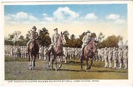 CAMP DEVENS, MA PRE-1920 POSTCARD - General Hodges - $13.75