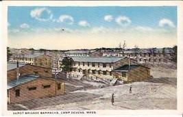 CAMP DEVENS, MA PRE-1920 POSTCARD - Depot Brigade Barracks - $13.75