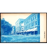 CAMDEN MAINE MAIN ST. PRE-1907 CYANOTYPE REAL PHOTO RPPC UND/B POSTCARD - $50.00