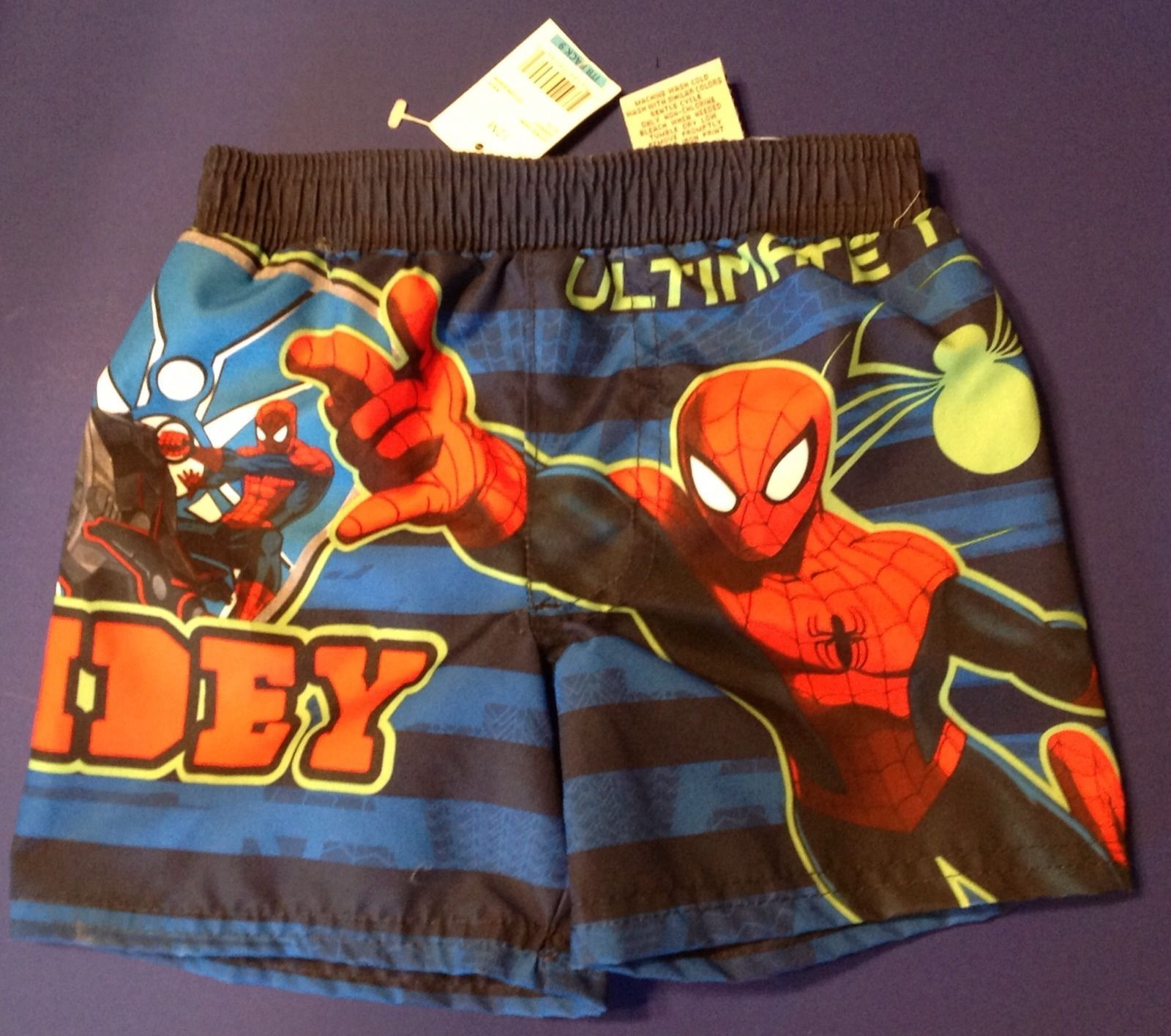 SZS 4//5 NEW 10//12 SPIDERMAN SWIM SHORTS