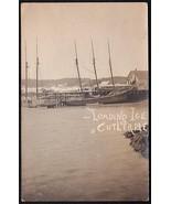 CUTLER MAINE Loading Ice on Ship 1907 RPPC Photo Postcard Und/B - $49.75