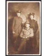 HALLOWEEN ADULT COSTUMES PRE-1920 RPPC Cowboy, Police, Military - $39.75
