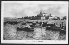 MALTA RPPC Photo Postcard - Fort St. Angelo - $12.75