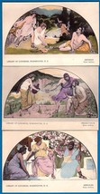 WALTER McEWEN MURALS LIBRARY OF CONGRESS PRE-1907 UND/B POSTCARDS SET OF 3 - $14.95