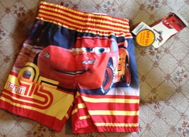 Swim Trunks Shorts Size 12 Month Disney Cars Team 95 UPF 50+ Infant New - $9.68