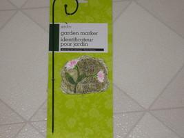 Garden Stake Faux Stone Marker & Metal Hanger Short Walk With a Friend F... - $7.53