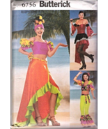 B6756 Misses' Carmen Miranda Flamenco Dance Costume Pattern 6-24  - $24.95