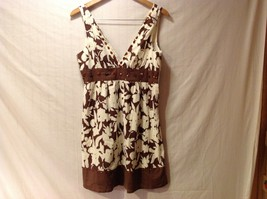 Forever 21 Womans Neutral Colored Multi Patterned Dress, Size Large