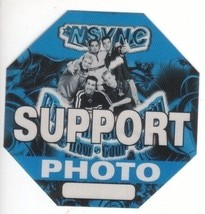 N SYNC n sync backstage Satin Cloth PASS tour collectible SUPPORT PHOTO - $11.38