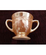 Sugar Bowl Fire King Vintage Peach Lustre Laurel Made in USA Depression ... - $18.51