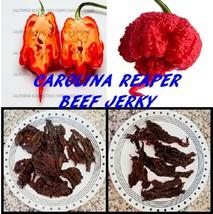 Carolina Reaper Beef Jerky 2oz. Succulent and World's Hottest Jerky. Diabolical! - $8.50