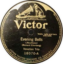 VENETIAN TRIO 78 RPM - Evening Bells / Alpine Violet - $15.75