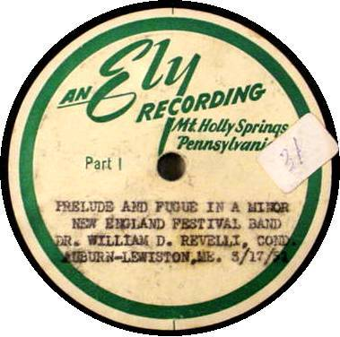 WILLIAM D. REVELLI (6) 78 RPM - University of Michigan