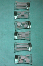 Vintage Set of Six Frosted Abstract Design Shot Glassess // Cordial Glasses - $15.00