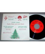 KATHY HALEY CHRISTMAS 45 RPM & SLEEVE - Maine Artist - $35.00