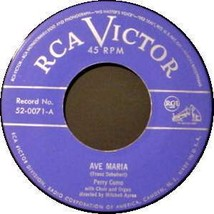 PERRY COMO 45 RPM - Ave Maria / Lord's Prayer - $12.75
