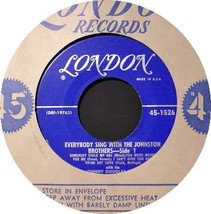 JOHNSTON BROTHERS 45 RPM - Everybody Sing With The - $13.75