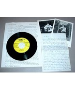 MEL ANDERSON 45 RPM PHOTO BIO & LETTER Liberated Woman - $30.00