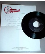 GRAND OLE OPRY STAR ERNIE ASHWORTH 45 RPM SIGNED LETTER - $125.00
