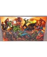 The Justice League vs The Avengers Glossy Print 11 x 17 In Hard Plastic ... - $24.99
