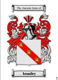 BRANTLEY Coat of Arms Surname Print - Genealogy Bonanza