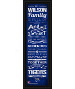 """Personalized University of Memphis """"Tigers"""" - 24 x 8 """"Family Cheer"""" Fram... - $39.95"""