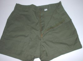 "US Military poly-cotton utility trousers, zippered, made into shorts, 36"" waist - $15.00"