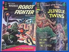Magnus Robot Fighter $6000000 Man Jungle Twins (1976) Charlton Gold Key Comics - $9.89