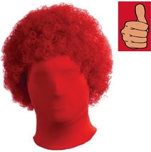 Wig - 2nd Skin - Afro - Red - Accessory for Zentai Full Body Stretch Costume - $11.54