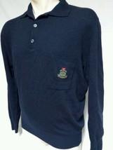 Emporio Armani Wool Sweater Button Collar Made In Italy Blue Mens Size 5... - $29.69