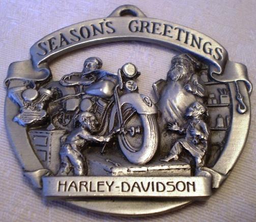 Harley Davidson  Pewter Ornament