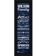 """Personalized University of Richmond """"Spiders""""-24 x 8 """"Family Cheer"""" Fram... - $39.95"""