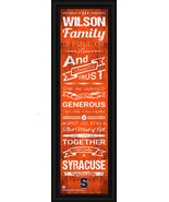 """Personalized Syracuse University - 24 x 8 """"Family Cheer"""" Framed Print - $39.95"""