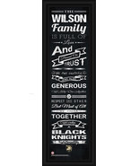 """Personalized US Military Academy """"Black Knights""""-24x8 """"Family Cheer""""Fram... - $39.95"""