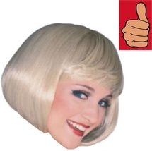 Wig - Adult - Super Model - Blonde - Short Bob w/ Bangs Costume Party Ac... - $8.77