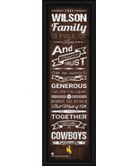 """Personalized University of Wyoming """"Cowboys""""- 24 x 8 """"Family Cheer"""" Fram... - $39.95"""