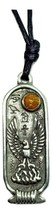 Phoenix Egyptian Zodiac Pendant Immortality June - July Cartouche Cord N... - $6.28
