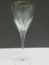 Lenox Cut glass Firelight gold rim Crystal goblet Made in USA mouth blown - $26.88
