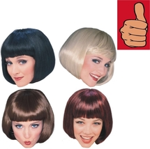 Wig - Adult - Super Model - Set of 4 - Black Blonde Brown Red - Short Bo... - $32.65