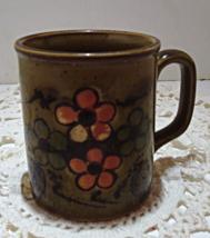 Vintage Retro Stoneware Coffee Cup // Mid Century Floral Coffee/Tea Mug - $9.00