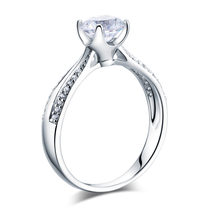 Sterling Silver Bridal Affordable Engagement / Promise Ring Lab Created Diamond - $99.99
