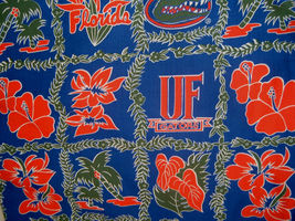 Florida Gators UF Floral Cotton Blend Fabric FQ 18 x 27 - $6.00