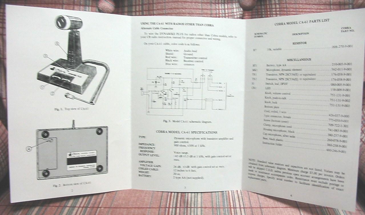 Cobra CA-61 Dynamike Plus CB Desk Microphone and 50 similar items