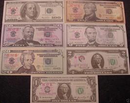 7 - USA Novelty Banknotes - Practice Test Bills - New Mint -US Small Siz... - $7.15