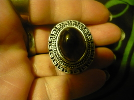 HAUNTED  MALE VAMPIRE ring size 8 STONE AT THE TOP SEEKS HIS COMPANION - $250.00