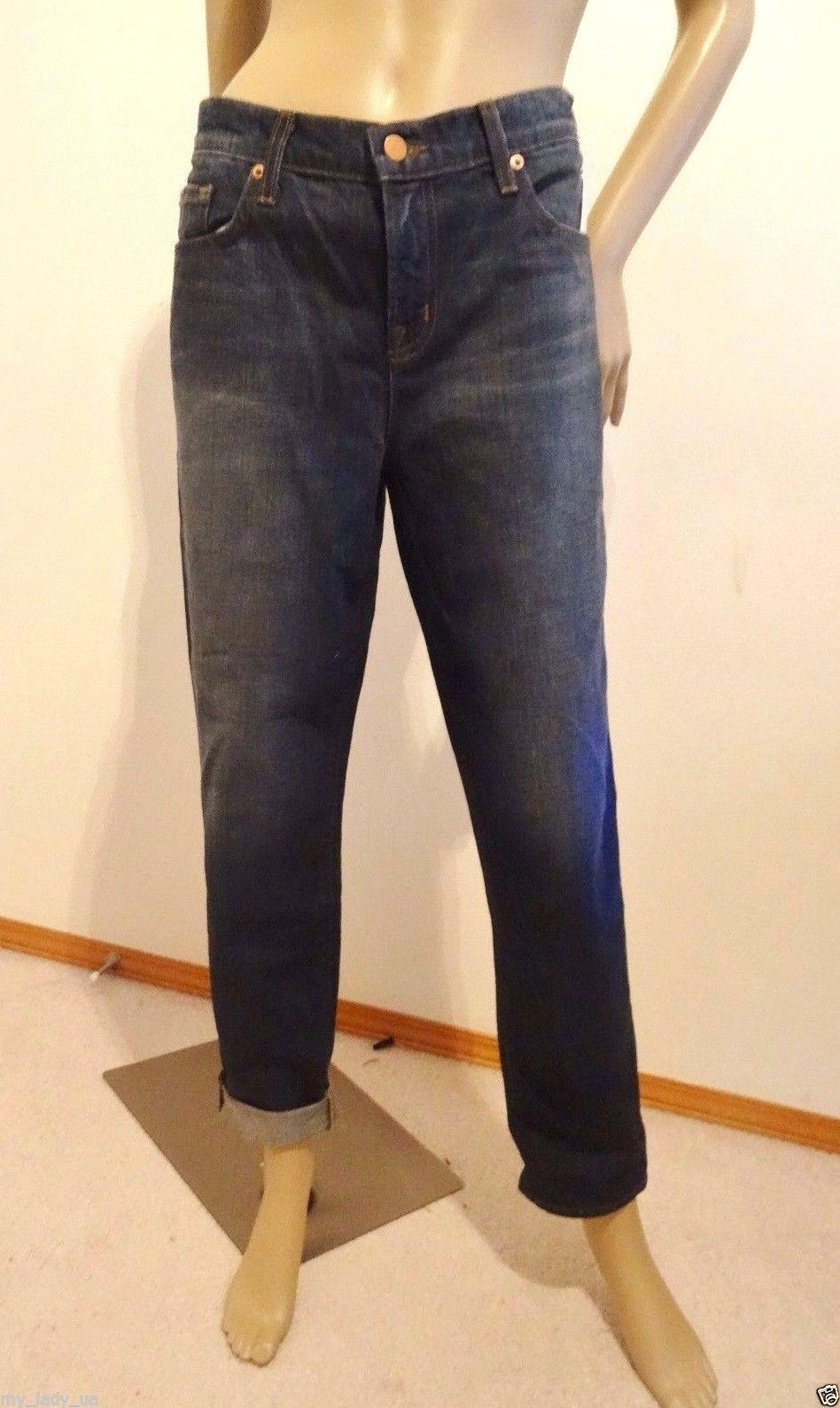 Nwt J Brand Designer Aiden Boyfriend Denim Jeans Sz 29 8 Ringer Dark Wash $169