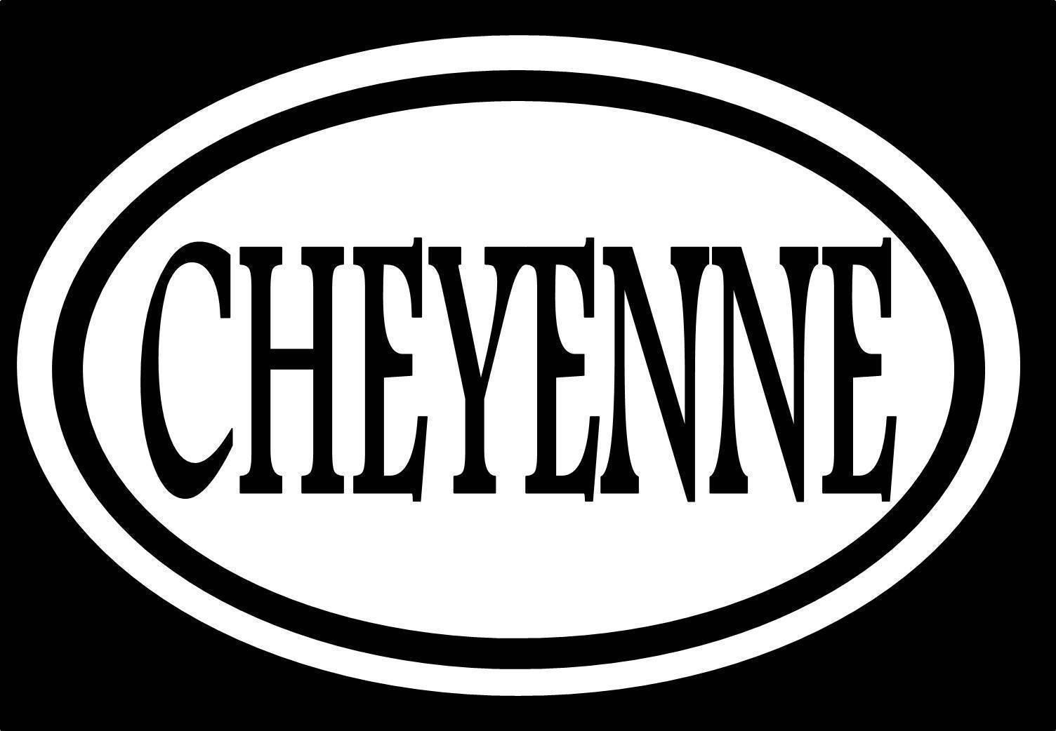 Cheyenne Sticker 6 Quot Decal Oval Wyoming Western Cowboy